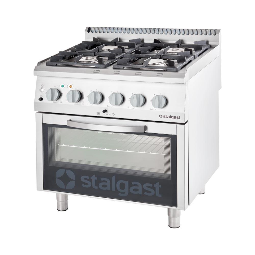 Stalgast Kuchnia Gazowa 4 Palnikowa 225 Kw Z Piekarnikiem Elektrycznym Gn 11 7 Kw Propan Butan