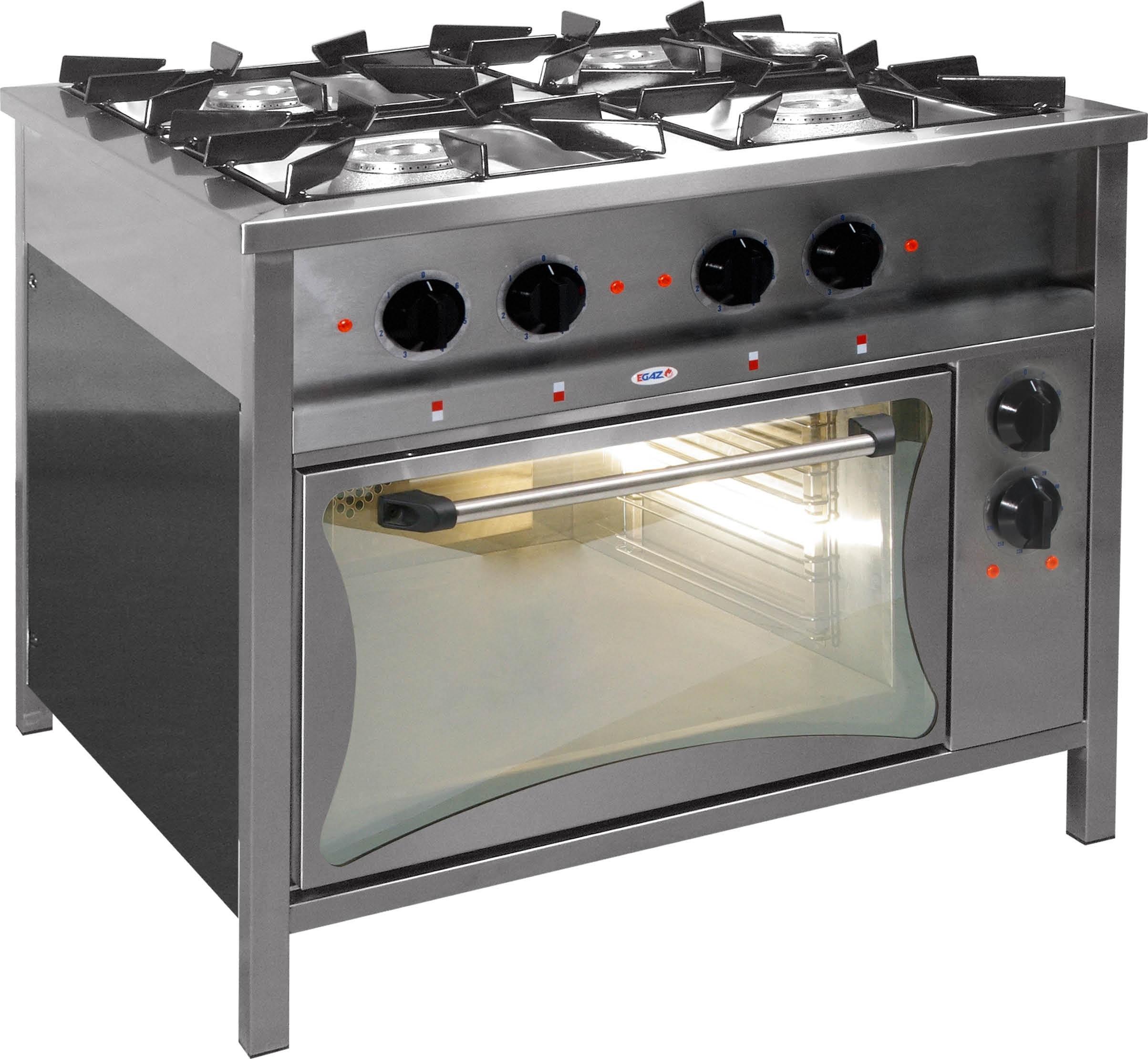 Egaz Kuchnia Gazowa 4 Palnikowa 24 5 Kw Z Piekarnikiem Elektrycznym