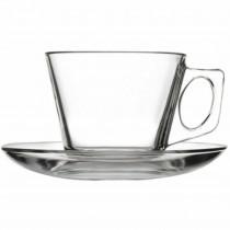 Pasabahce Filiżanka do kawy 185 ml ze spodkiem Vela