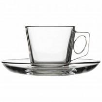 Pasabahce Filiżanka do espresso 80 ml ze spodkiem Vela
