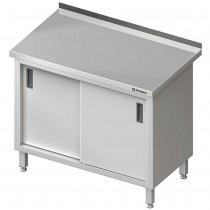 Stalgast Stół przyścienny z drzwiami suwanymi 1200x600x850 mm
