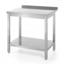 Hendi Stół roboczy przyścienny z półką - skręcany 800x600 mm