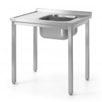 Hendi Stół ze zlewem - prawy - skręcany 1000x600 mm
