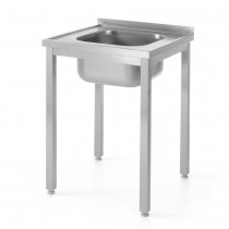 Hendi Stół z jednym zlewem - skręcany 600x600 mm