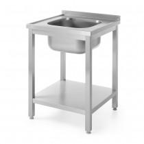 Hendi Stół z jednym zlewem z półką - skręcany 600x600 mm
