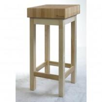 Hendi Kloc masarski drewniany na podstawie drewnianej 500x400x150(850) mm