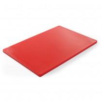 Hendi Deska do krojenia HACCP 600x400 mm czerwona do surowego mięsa