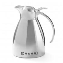 Hendi Termos stalowy do kawy i herbaty z przyciskiem chromowany 0,6 l